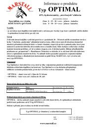 """45% hydrotermicky """"otevřených"""" obilovin - Marstall"""