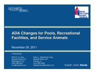 ADA Changes for Pools, Recreational Facilities, and Service Animals