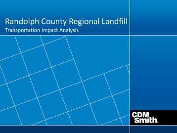 Transportation Impact Analysis - Randolph County Government