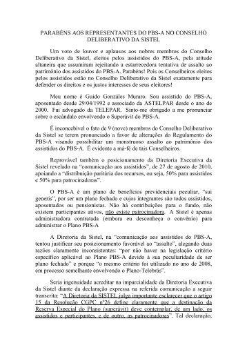 100930GM E_mail do associado Guido Muraro ... - Astelpar