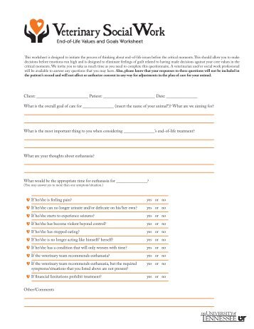 Goals Clarification Worksheet - AgWeb