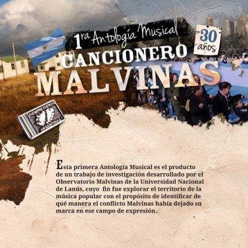 Libro del Cancionero Malvinas - Universidad Nacional de Lanús