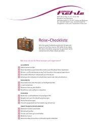 Download Reise-Checkliste - hehle-reisen.com