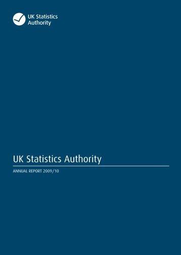 Annual Report 09/10 - UK Statistics Authority