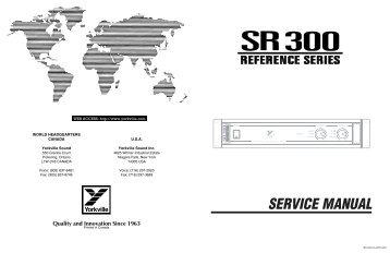 Service Manual Sound Leisure