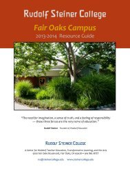 Campus Resource Guide - Summer 2013 - Rudolf Steiner College