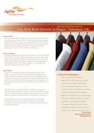 Case Study Retail Garments on Hangers - Debenhams U.K. - Agility