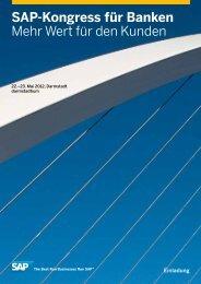 SAP-Kongress für Banken Mehr Wert für den ... - Infomotion GmbH