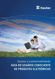 Itautec e sustentabilidade GUIA DO USUÁRIO CONSCIENTE DE ...