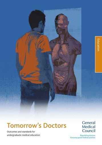 Tomorrow's Doctors 2009 - General Medical Council