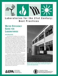 Water Efficiency Guide for Laboratories; Laboratories for the ... - I2SL