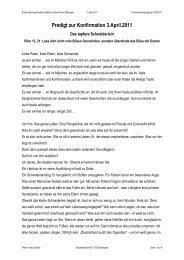 Predigt zur Konfirmation 3.April.2011 - Martin Luther Gemeinde ...