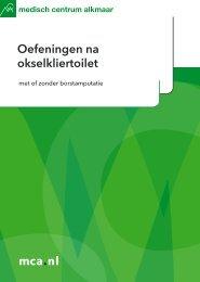 mca.nl Oefeningen na okselkliertoilet