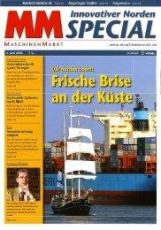 Maschinenmarkt 06/2008 - von Oertzen GmbH
