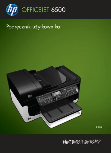 Instrukcja Obsługi OfficeJet 6500 Wifi - Centrum Druku