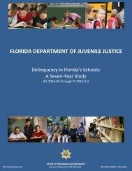 delinquency in florida's schools - Florida Department of Juvenile ...