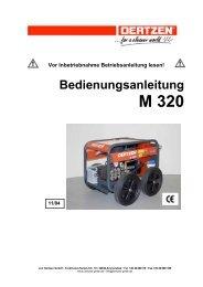 Bedienungsanleitung M 320 - von Oertzen GmbH