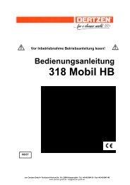 Bedienungsanleitung 318 Mobil HB - von Oertzen GmbH