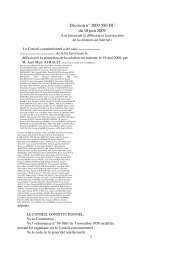 Décision n° 2009580 DC du 10 juin 2009 - Globenet