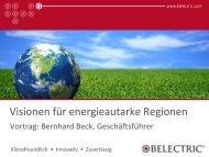 Visionen für energieautarke Regionen - Agrokraft