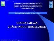 GEODATABAZA JUŽNE INDUSTRIJSKE ZONE - Western Balkans ...
