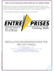 DryIce_Install_102405 Page 1-3.pdf - Entre Prises Climbing Walls