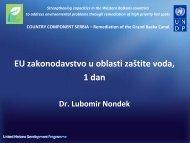 Dr. Lubomir Nondek - Western Balkans Environment Programe