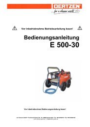 Bedienungsanleitung E 500-30 - von Oertzen GmbH