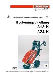 Bedienungsanleitung 318 K 324 K - von Oertzen GmbH