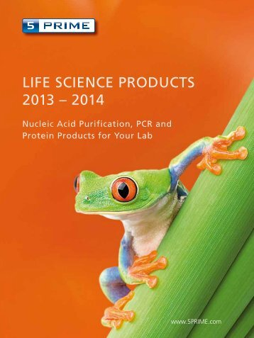 ram LIFE SCIENCE PRODUCTS 2013 – 2014 - 5 Prime