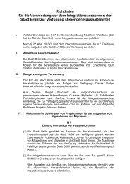 Richtlinien für die Verwendung der dem Integrationsausschuss der ...