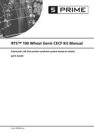 RTS™ 100 Wheat Germ CECF Kit Manual - 5 Prime