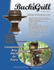 Compliments Any Deck Or Patio - Buck Stove