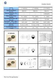 M9767O Omnidirectional Foil Electret ... - Dau Components