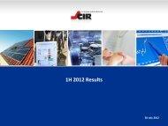 1H 2012 Results - Cir