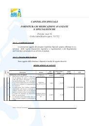 capitolato speciale fornitura di medicazioni avanzate e specialistiche