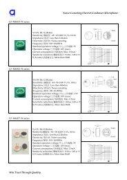 Noise-Canceling Electret Condenser ... - DAU Components