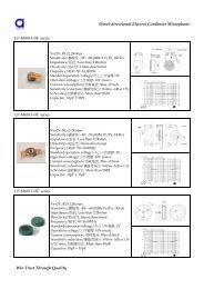 Omni-directional Electret Condenser ... - Dau Components