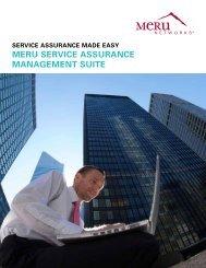 Manage Your Wireless LAN with Meru Service ... - Meru Networks