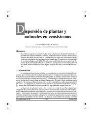 Dispersión de plantas y animales en ecosistemas