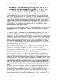 Alte Bilder – neue Hoffnung - Martin Luther Gemeinde Böblingen