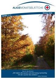 """ALICE HAUS Oktober 2006 """"Wir haben alle ... - Alice Haus Mainz"""