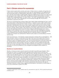 Part I: Climate science for economists - Stockholm Environment ...