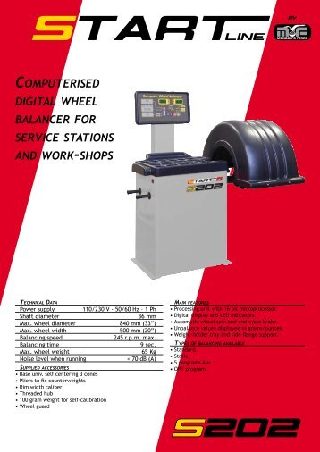 computerised digital wheel balancer for service stations and work