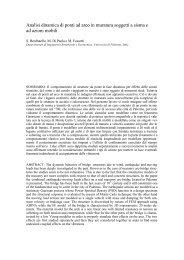 Analisi dinamica di ponti ad arco in muratura soggetti a ... - Anidis