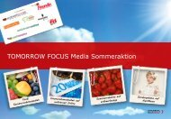 Doppelte Laufzeit - Tomorrow Focus Media
