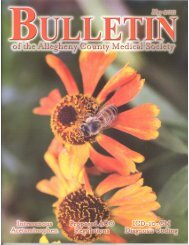2011 May ACMs Bulletin - Allegheny County Medical Society