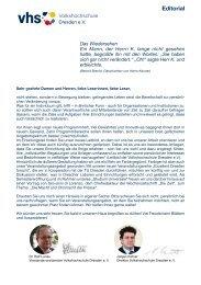 Vorwort mit Inhaltsverzeichnis (PDF, 1,2 MB) - Volkshochschule ...