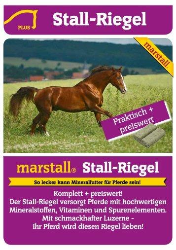Der Stall-Riegel versorgt Pferde mit hochwertigen ... - Marstall