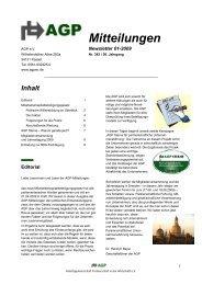 Newsletter 01-2009 - AGP